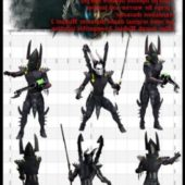 Dark Eldar Warrior For M3 Warhammer 40k