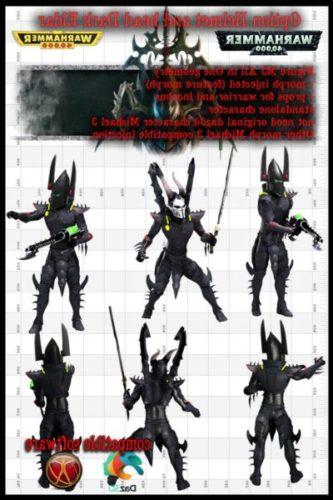 Dark Eldar Warrior For M3 Warhammer 40k