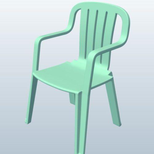 Monobloc Chair: Monobloc Chair Free 3D Model