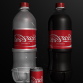 Bottles And Cans Of Coca Cola