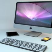 Apple Imac, Ipad, Keyboard & Iphone