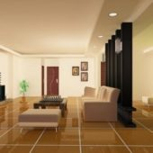New House Interior Furniture Scene