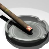 Ashtray And Cigarette