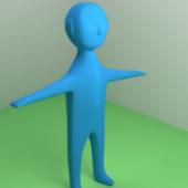 Human Figure Rigged