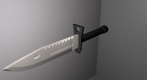Low Poly M9 Bayonet Knife