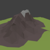 Mountain Low Poly (mount1)