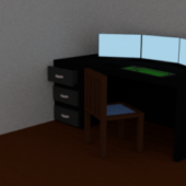 Low Poly Desk