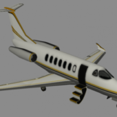 Lowpoly Private Jet Plane