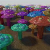Colored Mushrooms