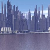 Sci-fi Downtown City