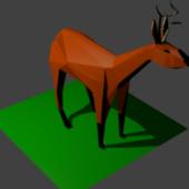 Deer Origami Low Poly