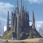 Sci-fi Tropical City