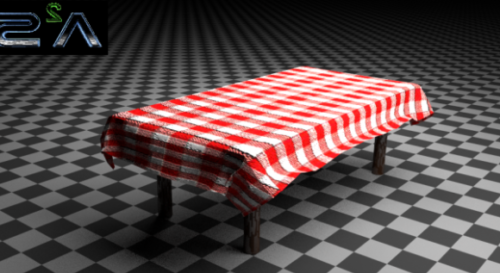 Home Table With Cloth