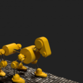 Robot Dog(rigged)