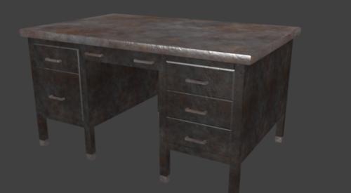 Rustic Metal Desk