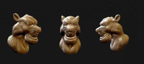 Cartoon Cat  Head