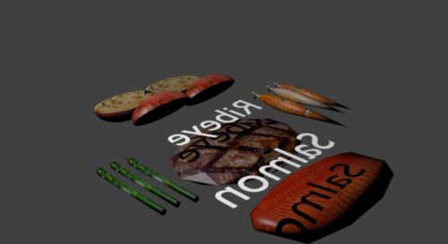 Dinner Food Free 3D Model (Blend, Obj) - Download