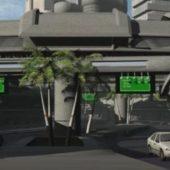 Scifi Street Mall Scene