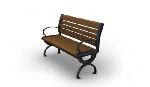 Western Wooden Park Bench