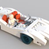 Lego White Car