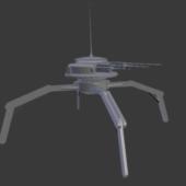 Scifi Spider Robot