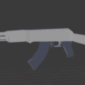 Ak47 Lowpoly Gun