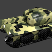 Tank With Forest Camo