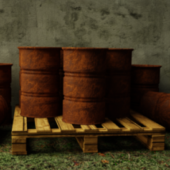 Old Metal Barrels