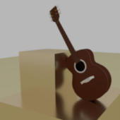 Lowpoly Guitar