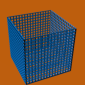 Wire Frame Metal Crate