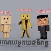 3 Boxman Character