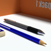 Office Desktop Objects Set