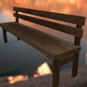 Wooden Bench Backrest