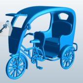 Old Bicycle Rickshaw