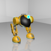 Biped Rigged Robot