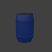Old Plastic Barrel