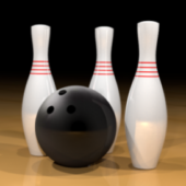 Sport Bowling Ball With Pins