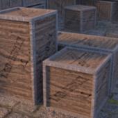 Wooden Crete Box