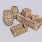 Boxes Cretes Barrels