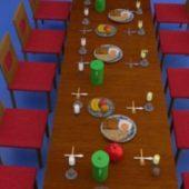 Breakfast Table Chair Set