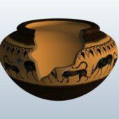 Ancient Broken Vase