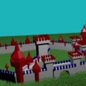 Lowpoly Cartoon Castle