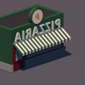 Cartoon Pizza Store