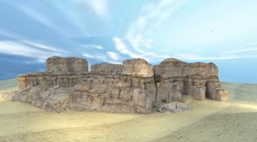 Landscape Cliff Scene