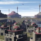 Colony Medieval City Scene