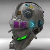 Combat Helmet Character
