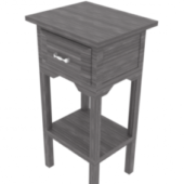 Dark Wood Tall Nightstand