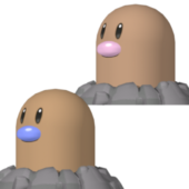 Diglett Pokemon Character