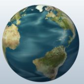 Earth With Map
