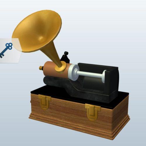 Edison Cylinder Phonograph Speaker